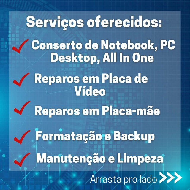 Assistência Técnica de Notebook, PC Gamer, Placa de Vídeo, Placa-Mãe - Orçamento Grátis  - Foto 2
