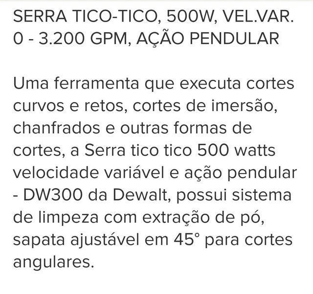 Tico Tico Dewalt bem conservada - Foto 4
