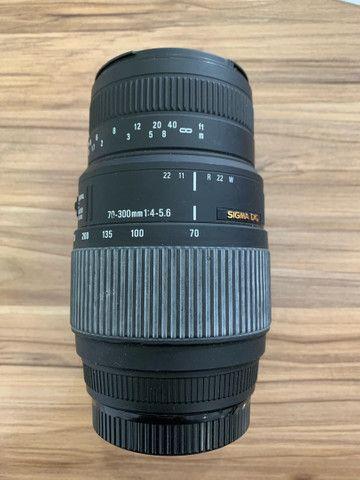Lente sigma dg 70-300mm 1:4-5.6