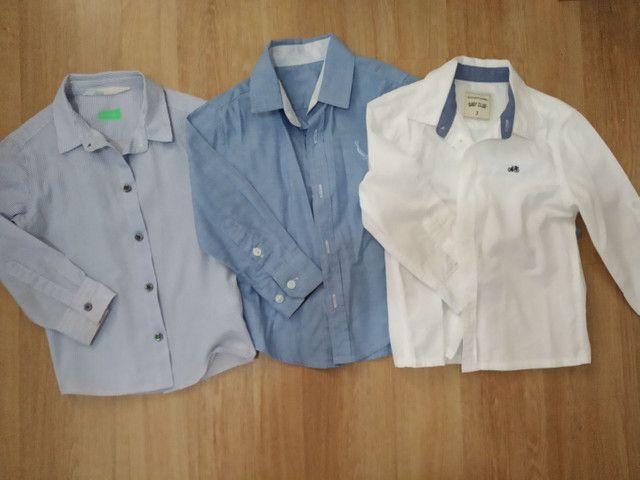 Trio de camisas manga longa infantil masculino