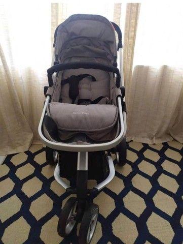 Carrinho de bebê seme novo - Foto 3