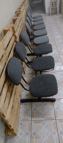 Kit de 3 cadeiras para escritório - Foto 3