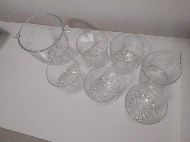 Copos Whisky 6 unidades + 1 Balde de Gelo - Foto 2