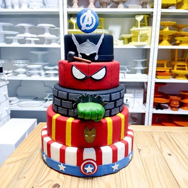 Bolo Avengers Heróis