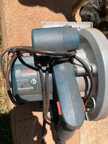 Serra circular Bosh Gks 150 Professional + discos de corte - Foto 3