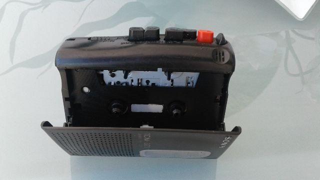 Mini gravador cassete sony supernovo- reliquia