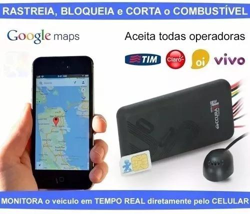 Rastreador e bloqueador veicular GPS gt06 Accurate escuta interna, sem mensalidade