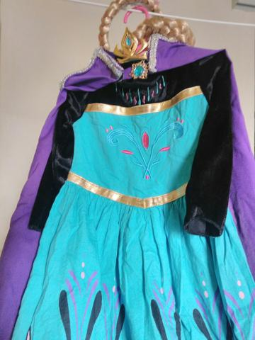 Vestido coroação elsa frozen