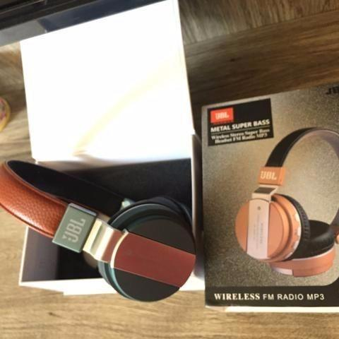 Fone De Ouvido Jb-55 Wireless Bluetooth Headset Sem Fio Mp3 sd