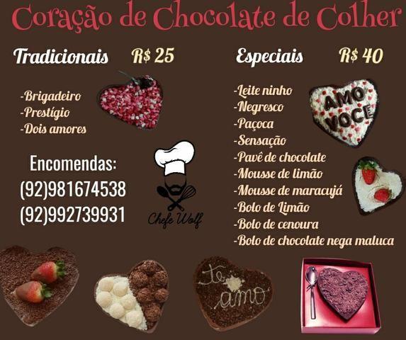 Coração de chocolate (dia dos namorados) - Serviços - Flores, Manaus