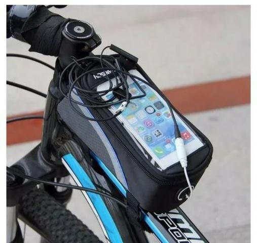 a1b3b7e0c1c Bolsa Case Porta Celula Suport Quadro Bike Bicicleta Phone ...