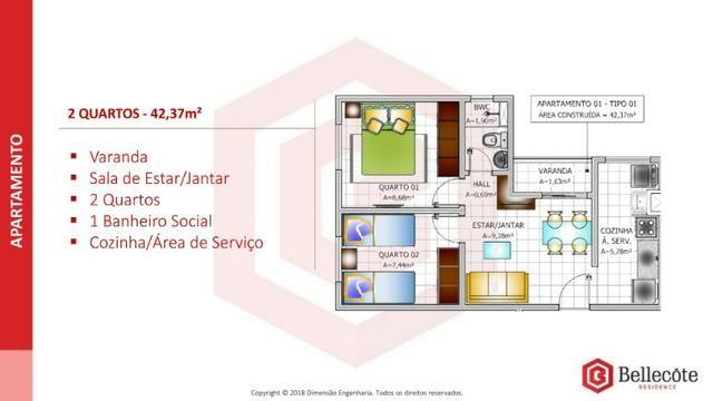 Bellecôte Residence, apartamento com entrada facilitada ao lado do mix mateus maiobão - Foto 9