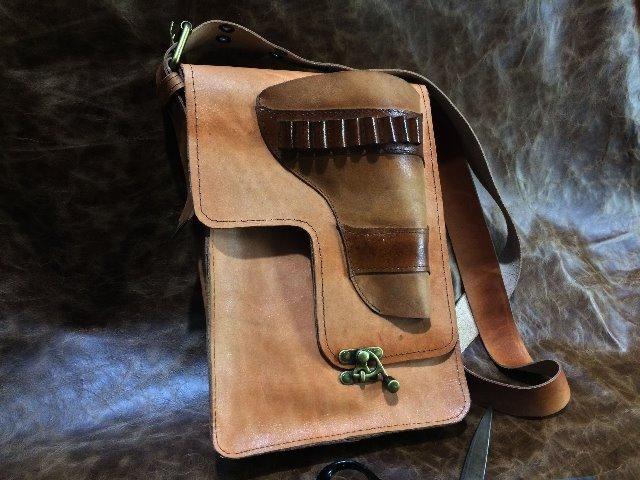 Bolsa em couro legítimo , tipo velho oest - Foto 2