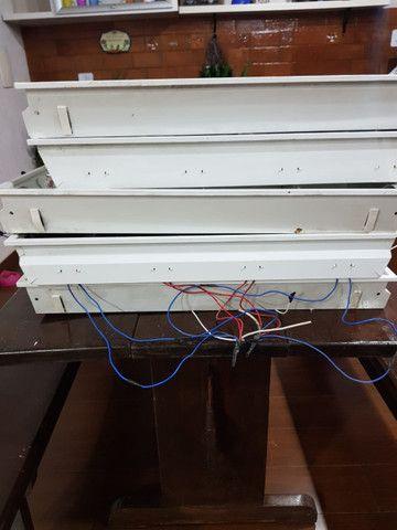 Luminária embutir tubular 4 lâmpadas quadrado 60cm alumínio - Foto 3