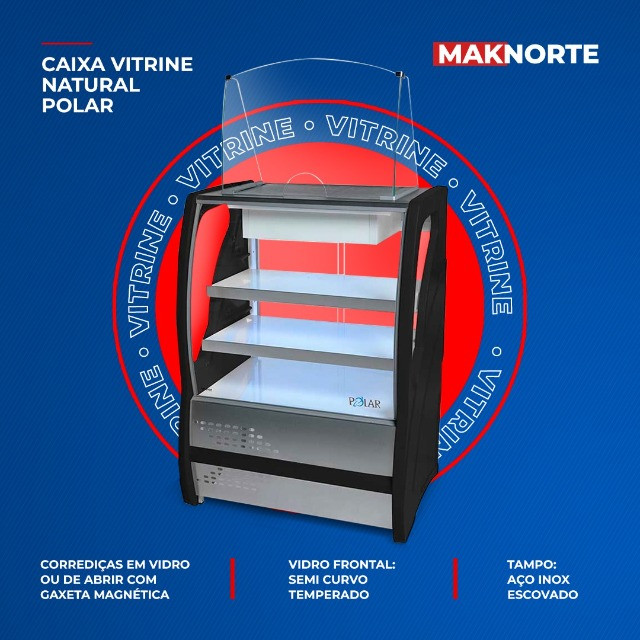 Caixa Vitrine Natural Polar