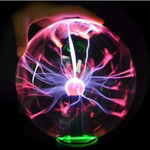 Globo De Plasma Light De 12 Cm 110 V Grande Bola De Cristal - Foto 2