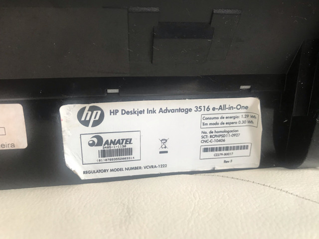 Vendo impressora HP Deskjet Ink Advantage 3516 e-All-in-One - Foto 5
