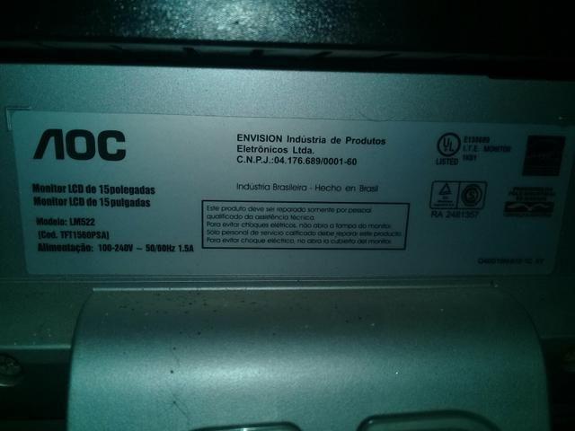 Monitor AOC 15 polegada