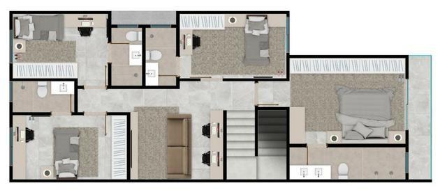 Sobrado em cond fechado 4 suites de alto padrão lazer completo ac financiamento - Foto 4