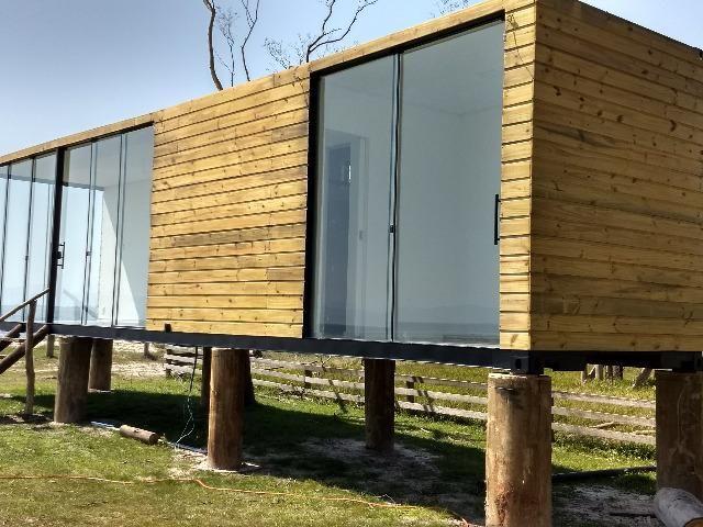 Casa container 30m2 com um quarto revestida em madeira em Chapeco - Foto 5