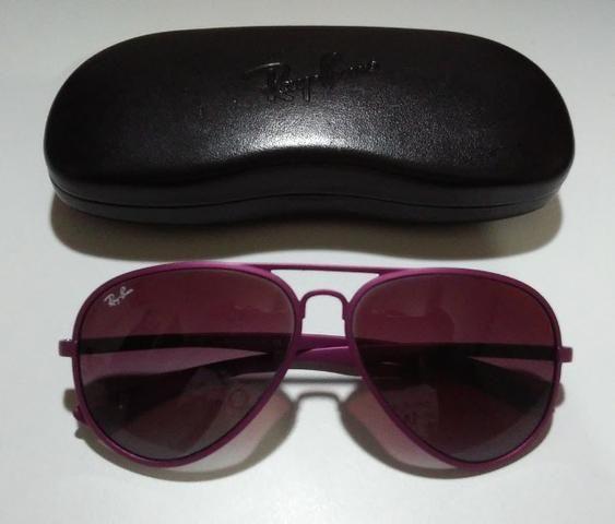 Óculos De Sol Importado Ray-Ban Aviator Liteforce RB4180 Roxo