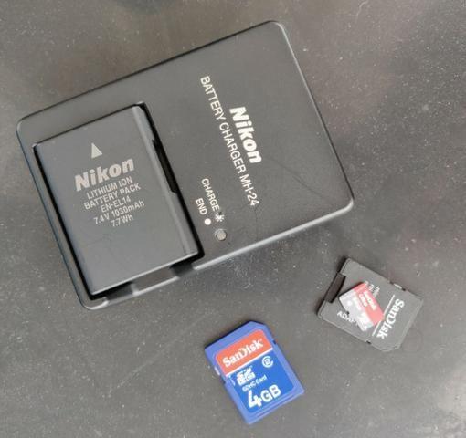Câmera Nikon D3200 + lentes 18-55mm e 55-300mm - Foto 5