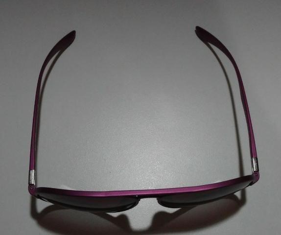 Óculos De Sol Importado Ray-Ban Aviator Liteforce RB4180 Roxo - Foto 5