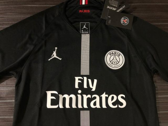 R  140. Camisa PSG Preta Champions League Modelo Jordan Nike Importada 0116bc8e9fe6f