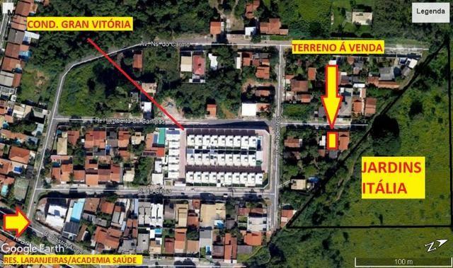 Lote, 390 metros, sendo 13 metros de frente; Parque das laranjeiras/Jd. Vitória