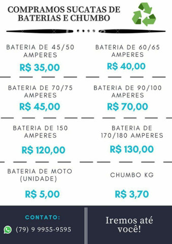 DOMINGO DA FELICIDADE $$$ SUCATAS DE BATERIAS E CHUMBOS $$ DINHEIRO JÁ - Foto 5
