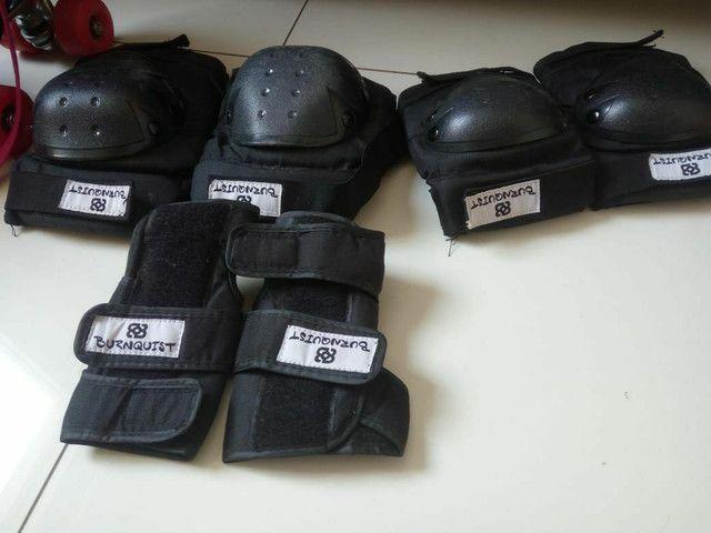 Patins 4 rodas retrô oxer + kit de equipamentos de proteção - Foto 6