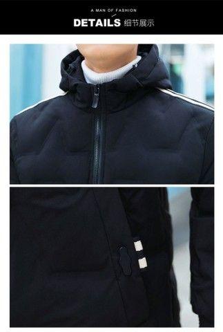 casaco luxo sobretodo masculino novo p m g gg  - Foto 4