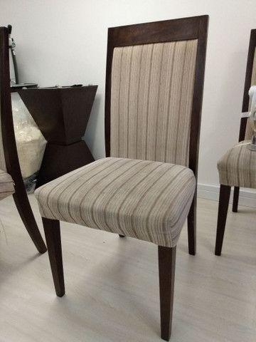 4 cadeiras madeira maciça usadas estofadas