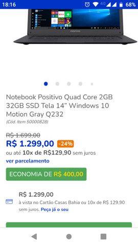 Vendo notebook positivo - Foto 6