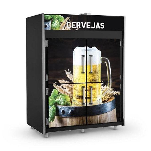 Câmara freezer de cervejas 4 portas 1800L Refrimate Nova Frete Grátis - Foto 2