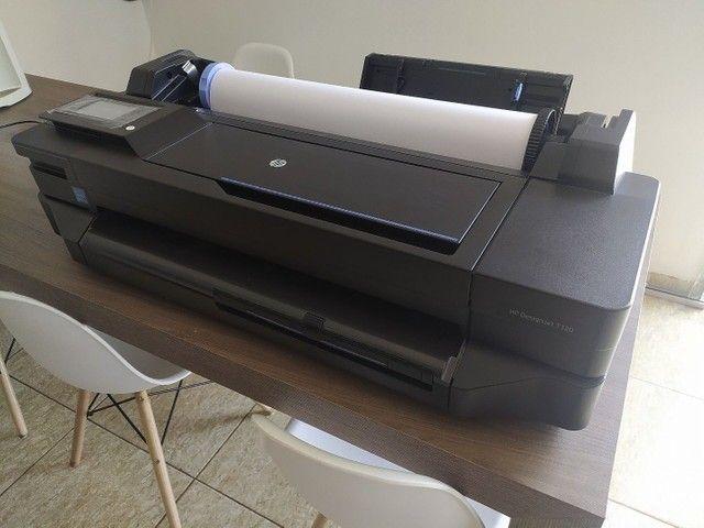 Hp Plotter Designjet T120 Eprinter Com Bulk de 300 Ml cada cor
