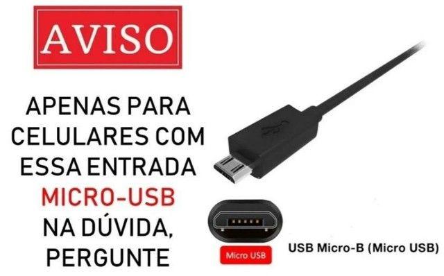 Carregador de celular TURBO ORIGINAL 3.0 Tecnologia entrada V8 micro usb - Foto 2