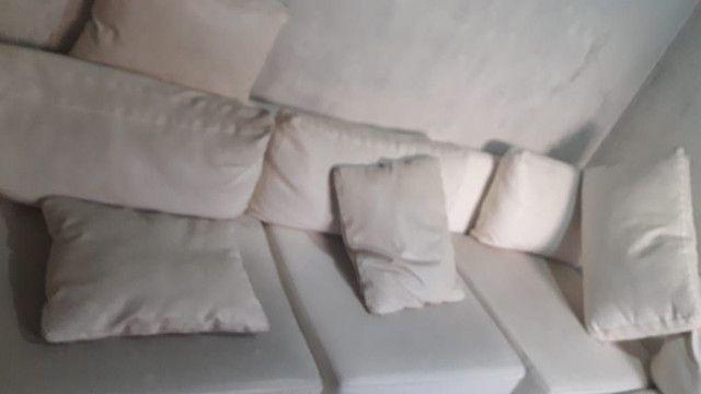 Sofá de couro branco - Foto 3