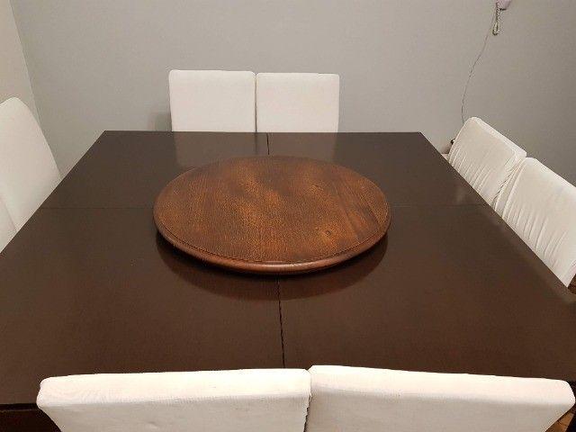 Linda Mesa Quadrada 1,60 X 1,60 + 8 cadeiras - Foto 6