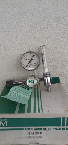 Valvula de oxigenio para oxigenoterapia com fluxometro