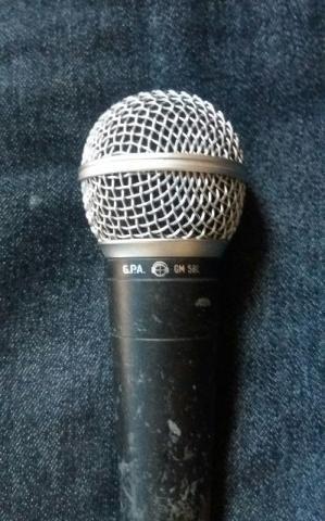 Microfone G.P.A GM 580 Com cabo - Apenas 50,00 reais