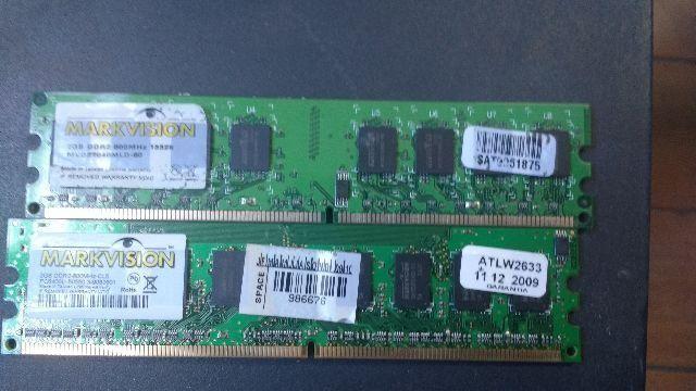 Memoria 2Gb Ddr2 Markvision 800 Mhz 100% testadas