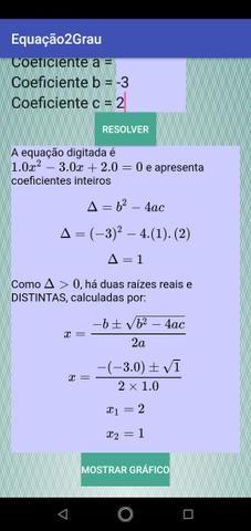 Aplicativo de resolução de equações - Foto 2