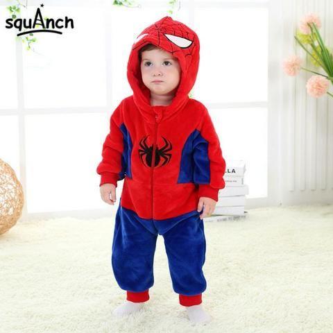 Fantasia Macacão Pijama Bebê Bichinhos Desenhos Herois Vingadores Superman  Batman Minions 5771200b942