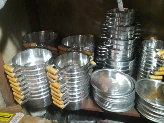 Jogos d panelas d aluminio batido