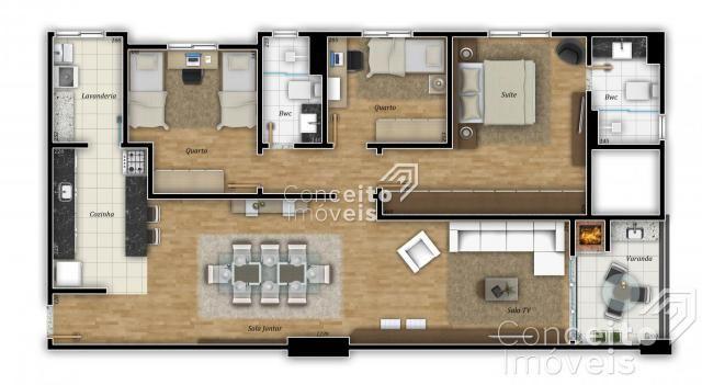 Apartamento à venda com 3 dormitórios em Centro, Ponta grossa cod:391950.001 - Foto 3