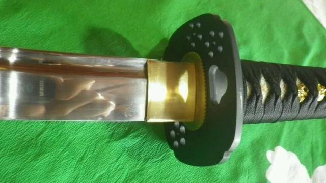 Espada Katana Ninjato Shinobigatana Oniyuri Forjada Aço 1070 - Foto 5