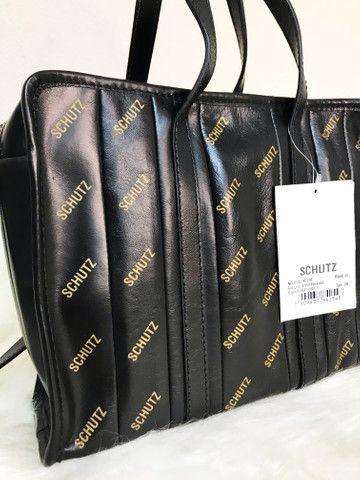 Bolsa Schutz de couro legítimo Original - Foto 2