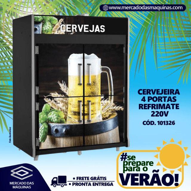Câmara freezer de cervejas 4 portas 1800L Refrimate Nova Frete Grátis