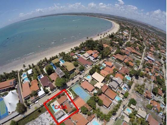 RBA Vendo casa na Praia de Serrambi, cond, fechado, terreno 15x30, 6 suítes, lazer! - Foto 2